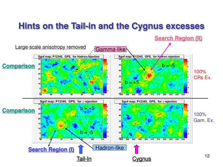Hints on the Tail-in and the Cygnus excesses