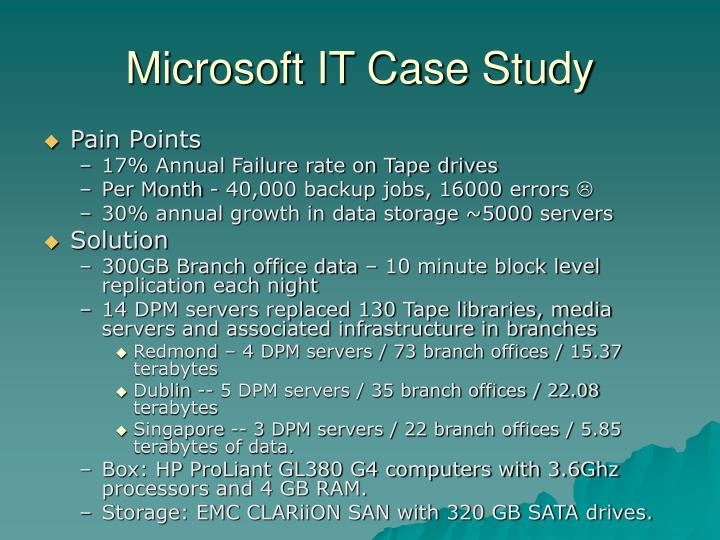 Microsoft IT Case Study