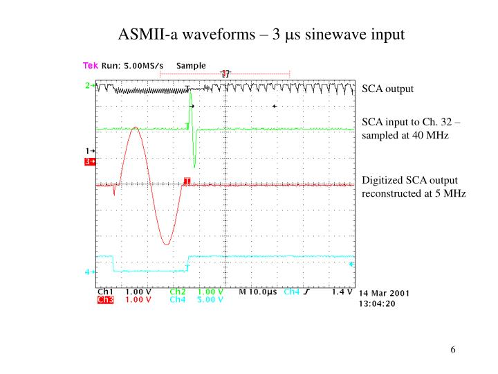 ASMII-a waveforms – 3
