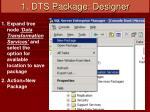 1 dts package designer