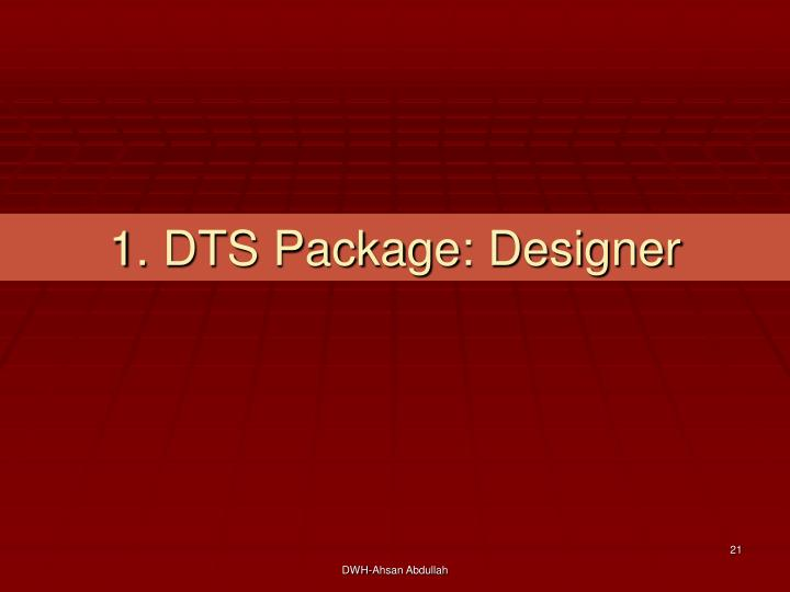 1. DTS Package: Designer