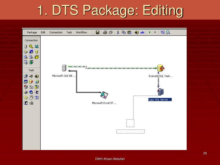 1. DTS Package: Editing