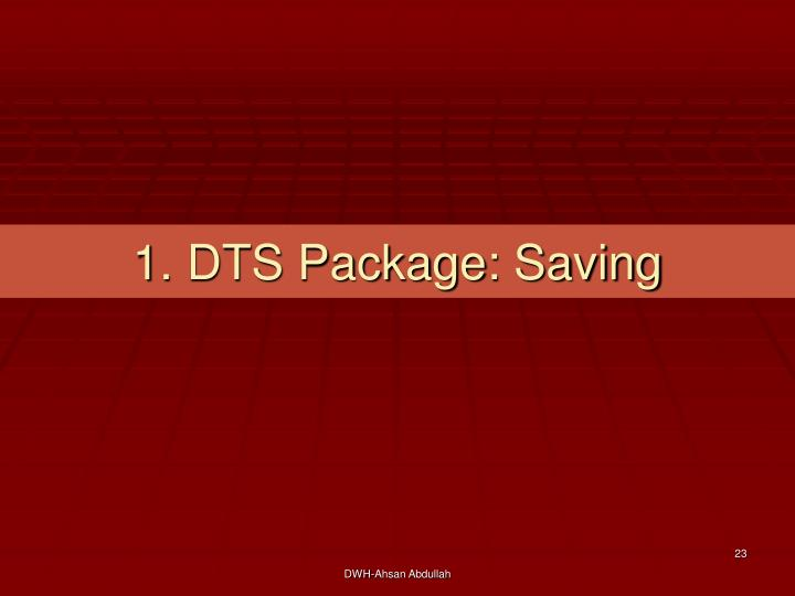 1. DTS Package: Saving