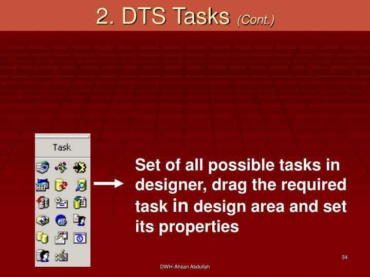2. DTS Tasks