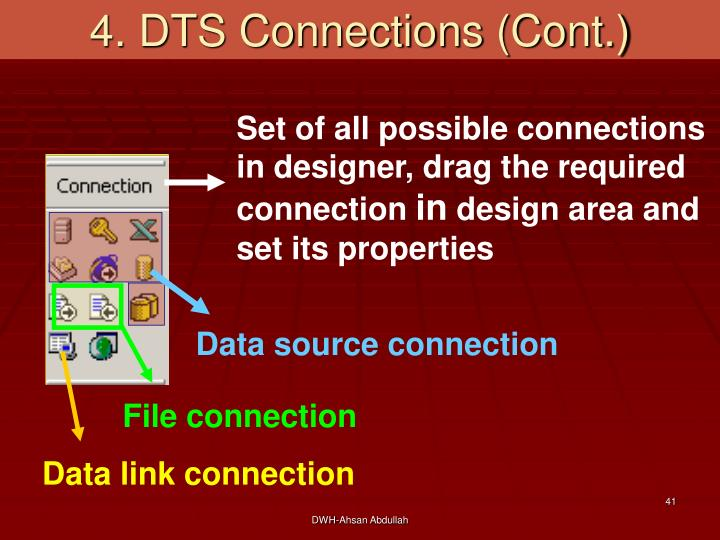 4. DTS Connections (Cont.)