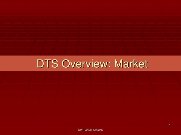 DTS Overview: Market