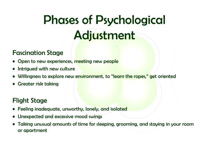 Phases of Psychological Adjustment