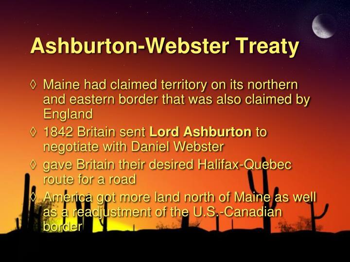 Ashburton-Webster Treaty