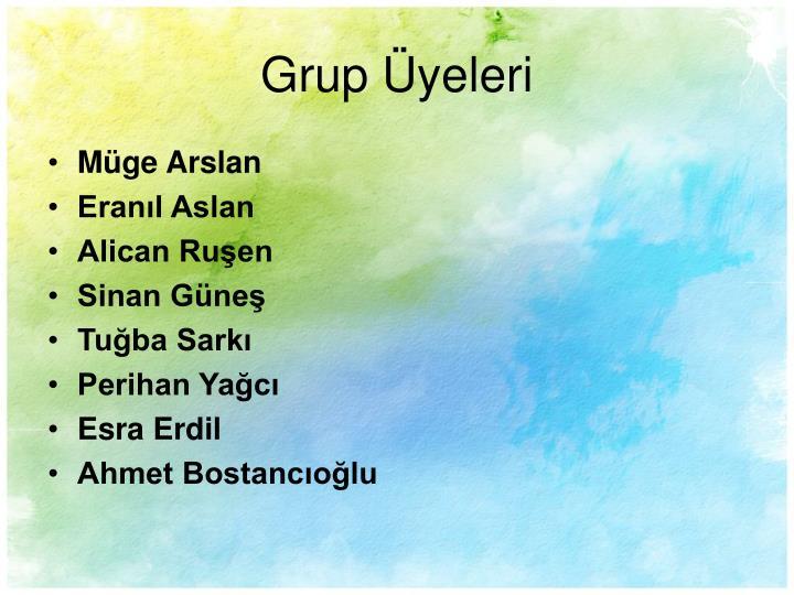 Grup Üyeleri