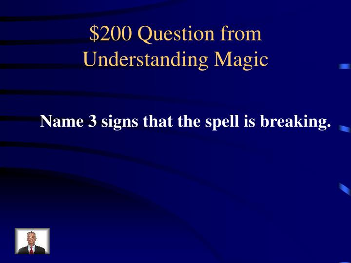 $200 Question from Understanding Magic