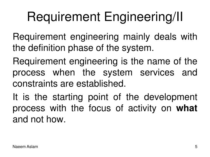 Requirement Engineering/II
