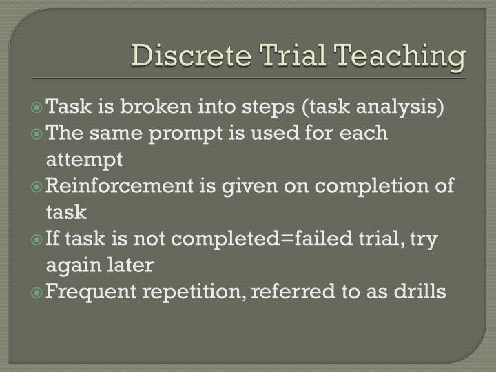 Discrete Trial Teaching