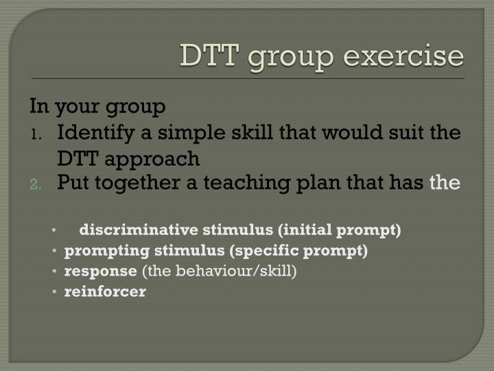 DTT group exercise