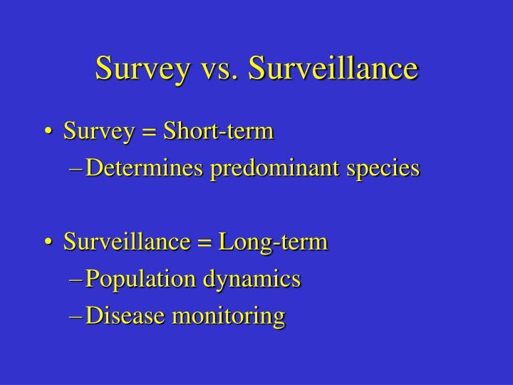 Survey vs. Surveillance