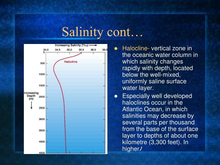 Salinity cont…