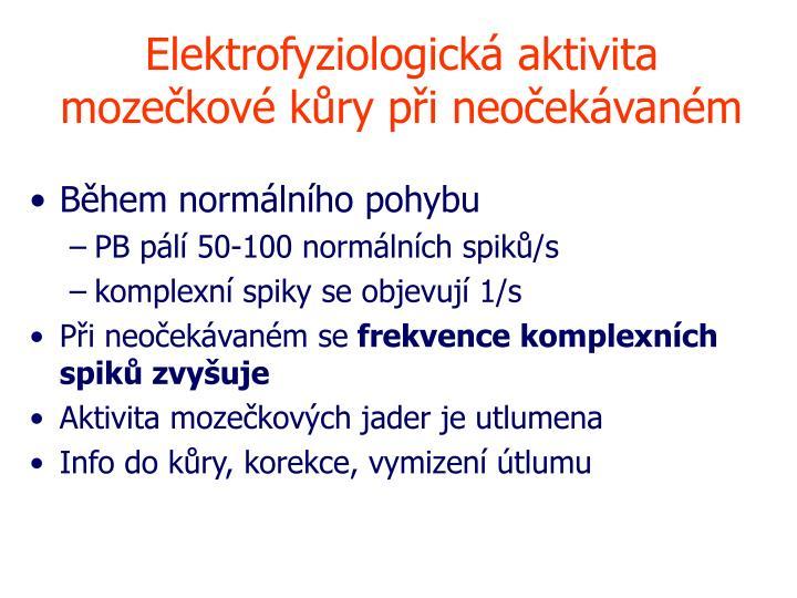 Elektrofyziologická aktivita mozečkové kůry při neočekávaném