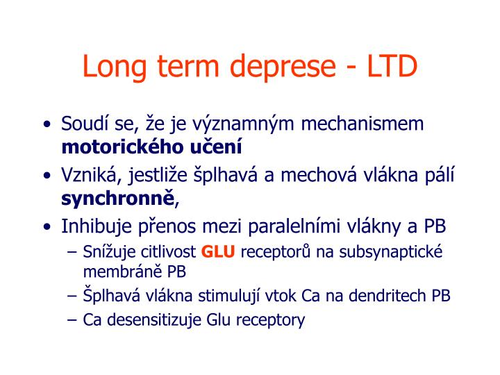 Long term deprese - LTD