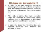 e i stages after data capturing 1