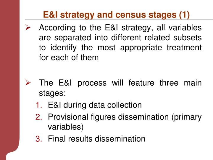 E&I strategy and census stages (1)
