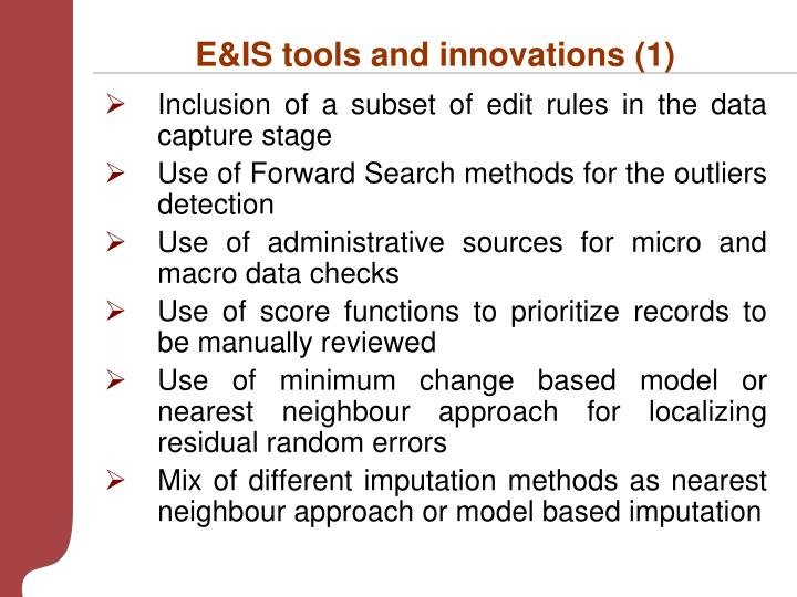 E&IS tools and innovations (1)