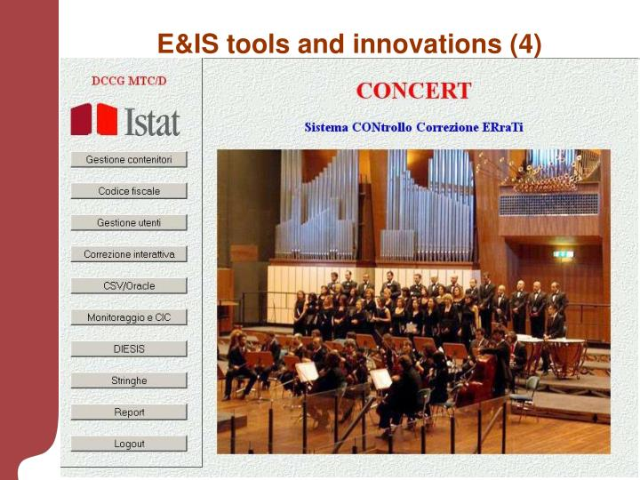 E&IS tools and innovations (4)
