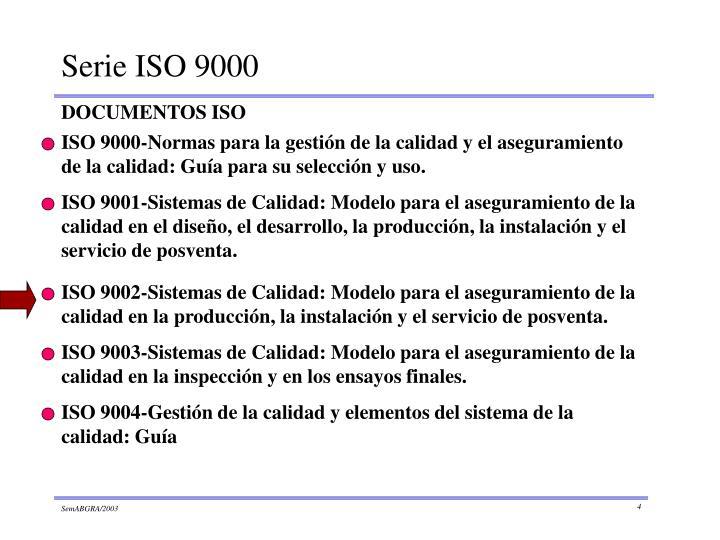 ISO 9000-Normas para la gestión de la calidad y el aseguramiento de la calidad: Guía para su selección y uso.