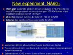 new experiment na60