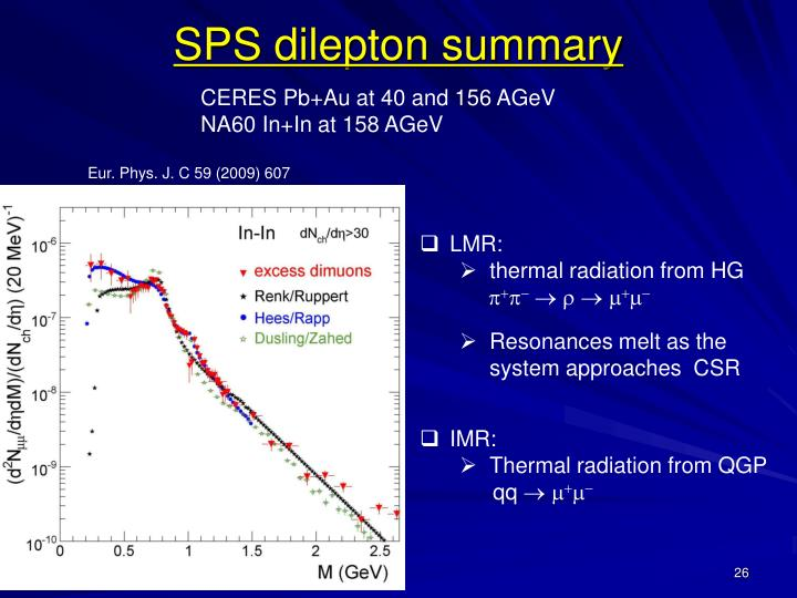 SPS dilepton summary