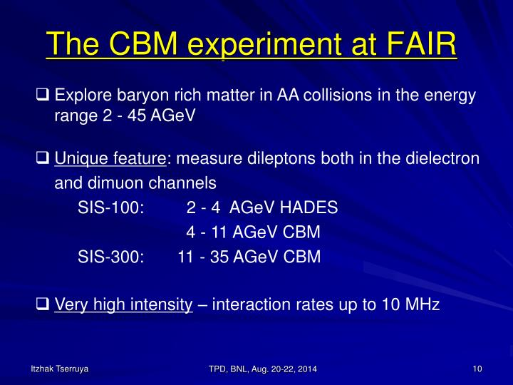 The CBM experiment at FAIR