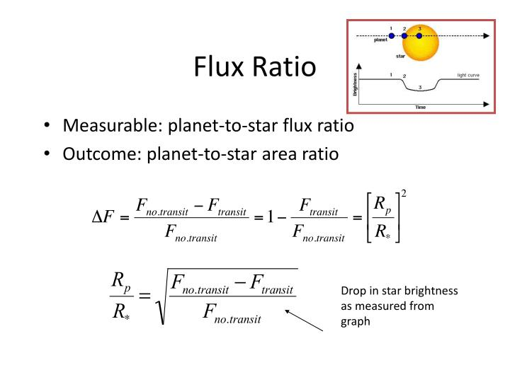 Flux Ratio