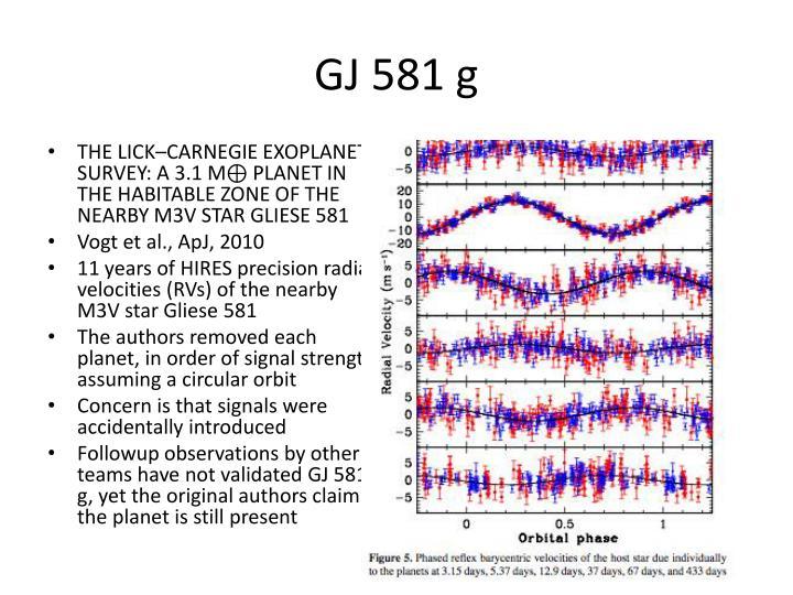 GJ 581 g