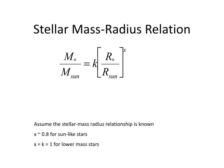 Stellar Mass-Radius Relation