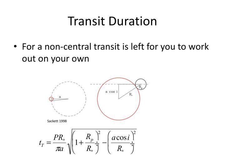 Transit Duration