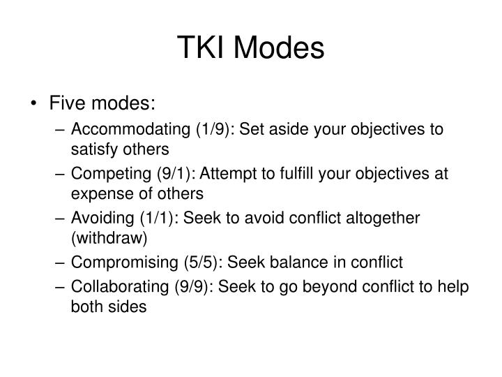 TKI Modes