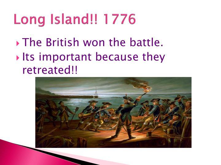 Long Island!! 1776