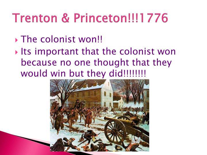 Trenton & Princeton!!!1776
