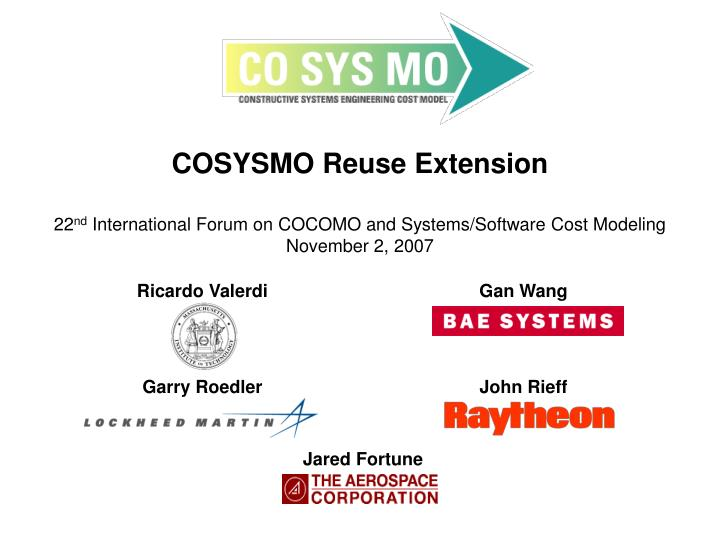 COSYSMO Reuse Extension