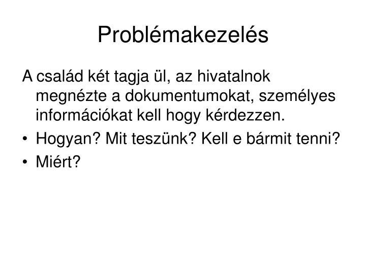Problémakezelés