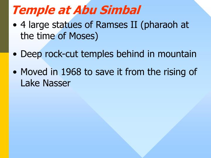 Temple at Abu Simbal
