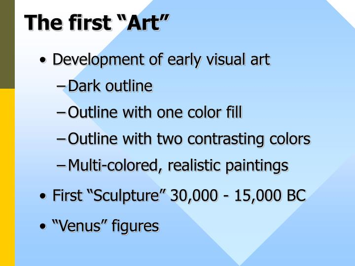 The first art