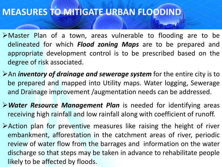MEASURES TO MITIGATE URBAN FLOODIND