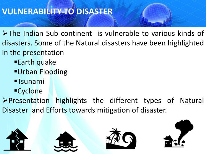 VULNERABILITY TO DISASTER