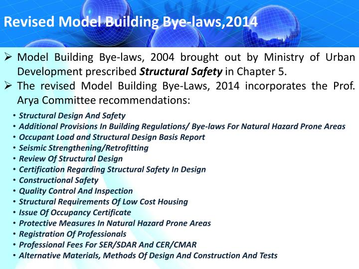 Revised Model Building Bye-laws,2014