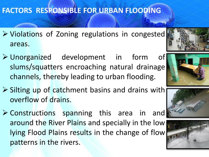 FACTORS  RESPONSIBLE FOR URBAN FLOODING