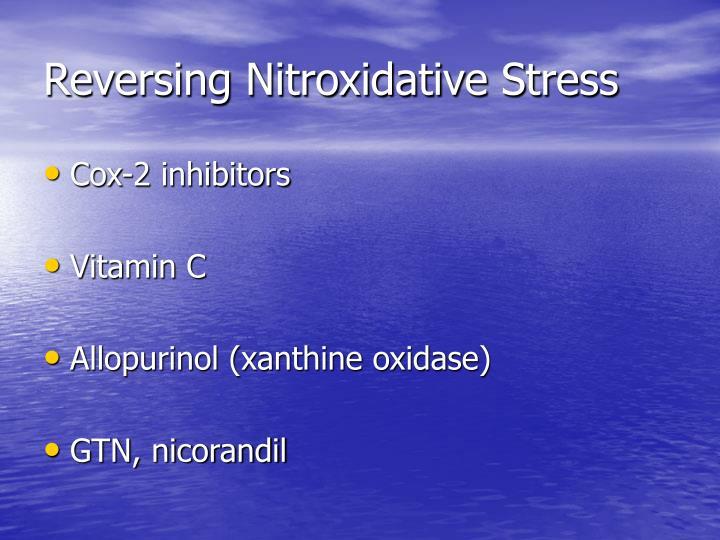 Reversing Nitroxidative Stress
