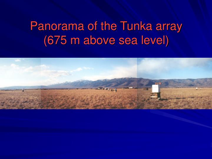 Panorama of the Tunka array