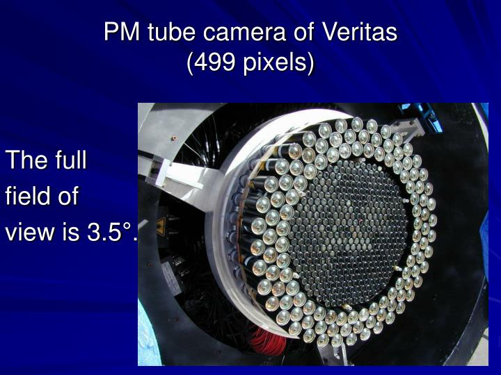 PM tube camera of Veritas