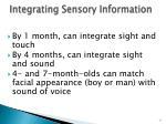 integrating sensory information