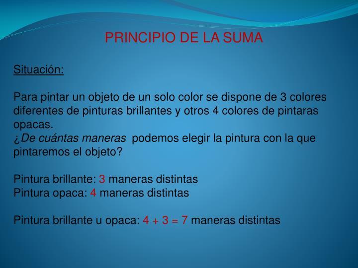PRINCIPIO DE LA SUMA