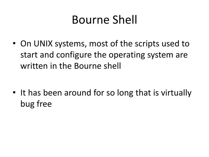 Bourne Shell